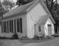 Plutarch Methodist Church built in the 1860s