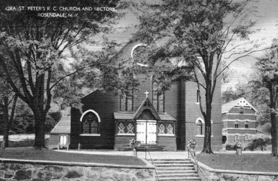 St. Peter's R. C. Church and Rectory, Rosendale, N.Y.