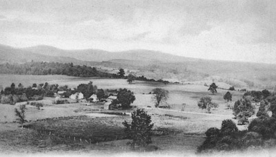 Looking North from The Church Tower in Stone Ridge circa 1900.
