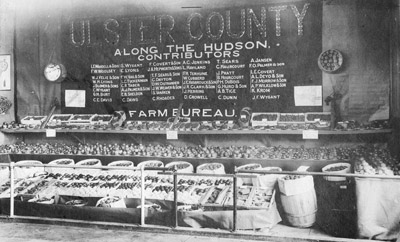 1915 Ulster County Agriculture display at NYS Fair