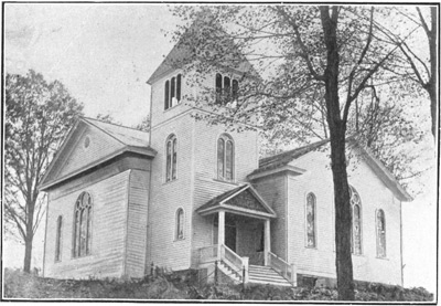 Postmarked 1906 postcard showing the Milton Methodist Church after the renovations of 1904.
