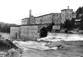 A Dimick factory at Dashville taking power from the Wallkill (circa 1865).