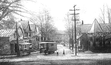 Main & Vineyard looking east, Highland, circa 1908(Image courtesy of Shirley Anson Collection)