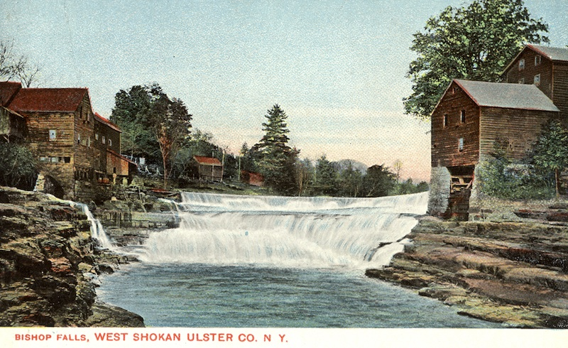 Bishop Falls card is very early, possibly 1904 as the back is for address only.