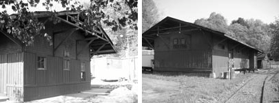The 1823 Milton Train Station, May 2008, its 125th year. Photos by John J. Wadlin.