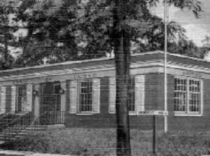 Lloyd Town Hall prior to addition of 2nd story