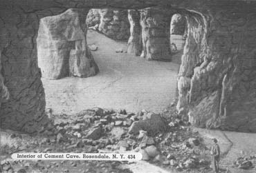 Interior or Cement Cave, Rosendale, N.Y.