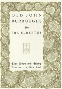 Old John Burroughs book