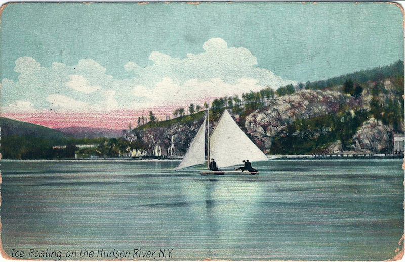 Ice Boating on the Hudson River, N.Y.