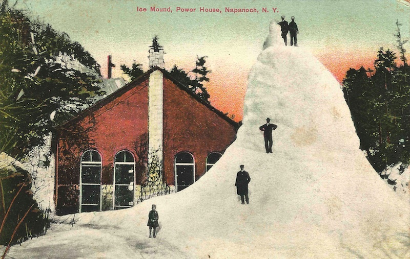 Ice Mound, Power Station, Napanoch, NY.