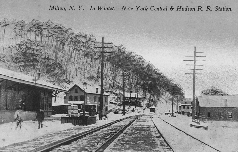 "Postcard, ""Milton, N.Y. In Winter. New York Central and Hudson R.R. Station,"" courtesy of G. Mastropaolo."