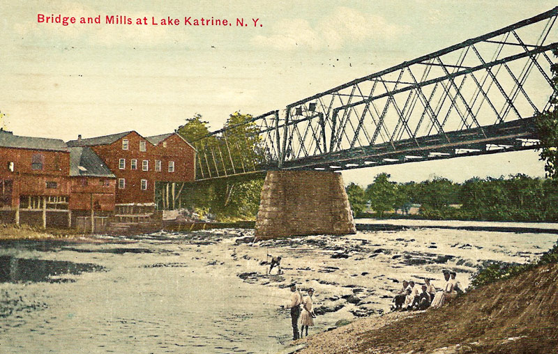 Bridge and Mills at Lake Katrine, N.Y. postcard