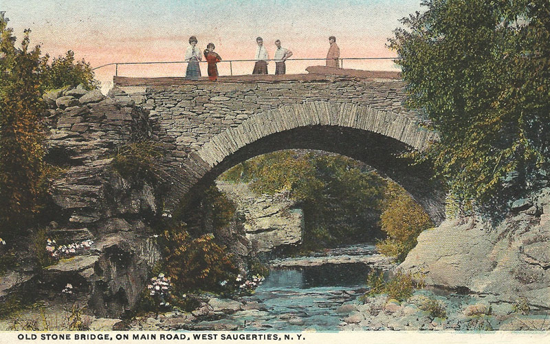 Old Stone Bridge, on Main Road, West Saugerties, N.Y. postcard