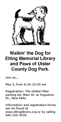 Walkin' the Dog for Elting Memorial Library and Paws of Ulster County Dog Park