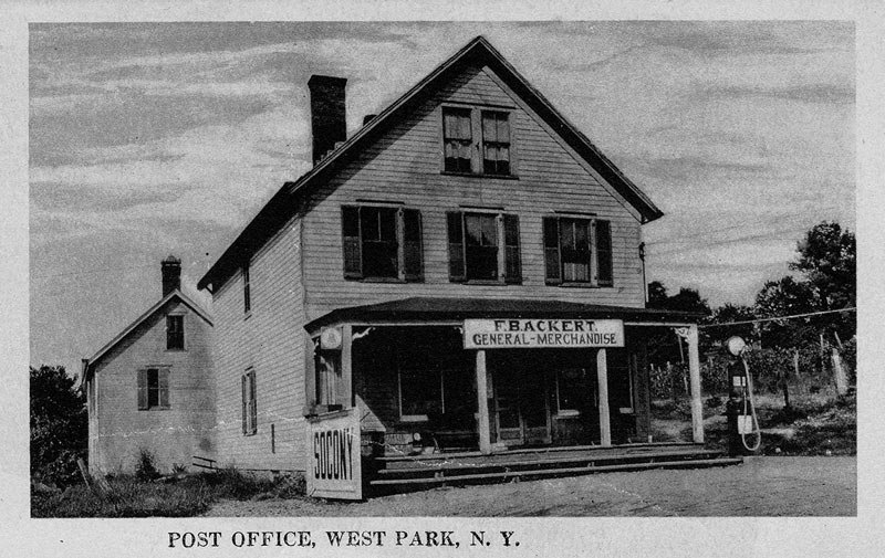 West Park post office and store postcard