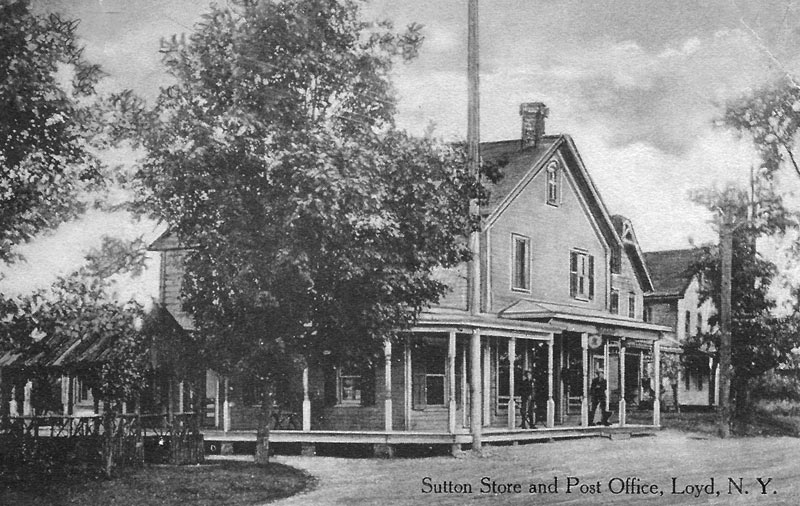 Sutton store and post office, Loyd, NY postcard